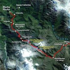 Chemin Inca Cartes Détaillées